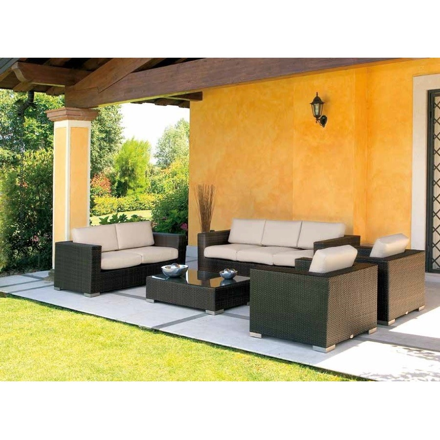 Salotto Rodi GPB Mediterraneo Tecno Rattan Collection
